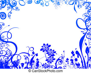 blue foliage frame