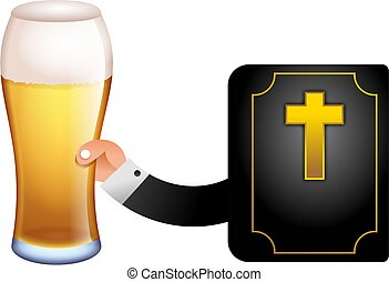 God with a pint