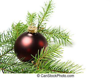 Christmas ornament - A red christmas ornament with christmas...