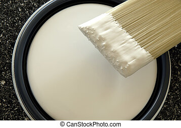 Paint Brush Ready To Paint Latex Paint