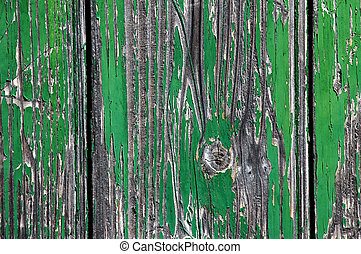 Green Crackled Wood Texture - Green Crackled Wood