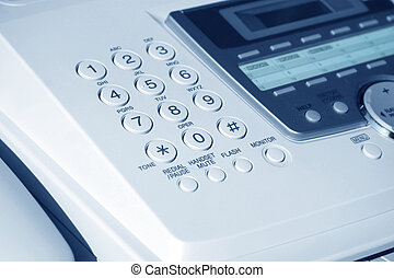 fax machine - laser fax machine close up