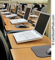 School Computer Lab 1.jpg - School computer lab with desks...
