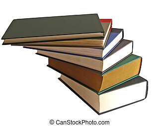 Stack of Books 2 - Stack of hardcover books, stacked at...