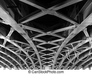 grande, trave, ponte