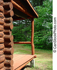 Cabin Porch - the porch on a log cabin