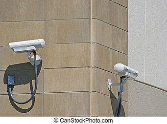 Security Cameras - Two security cameras on exterior wall