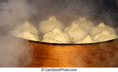 Boiling Chinese ham - Image of some Chinese hamburgers...