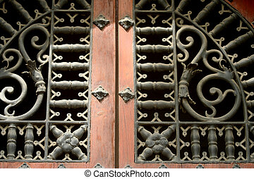 Door in Seville - This shows the architecture of a door in...