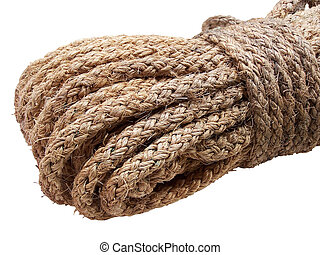 rope from vegetable fibers twisted, isolated
