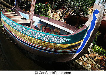 Boat - Colorful painted boat