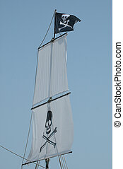 Pirat flag and sails.