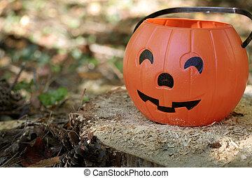 pumpkin stump