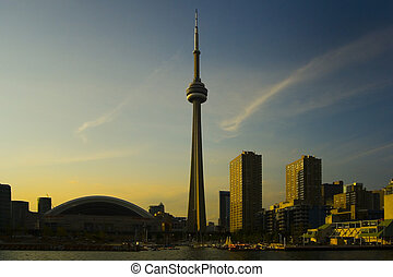 Famous Places - Toronto silhouettes