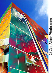 Glass tower - Colorful abstract of an office tower block