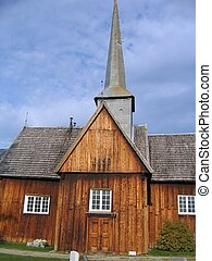 Old church - Old Norwegian wooden church built in 1652