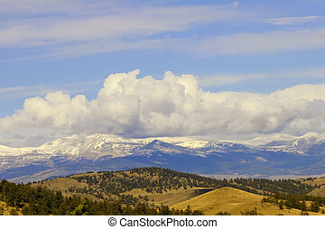 The Front Range - Cumulous clouds gather over the front...
