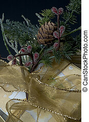 gift boxes - wrapped gift boxes with ribbons and bow and...