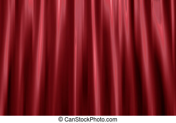 Velvet curtain blur - Blurred background of a red velvet...