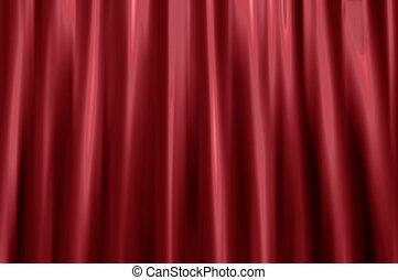 Velvet curtain blur - Blurred background of a red velvet...