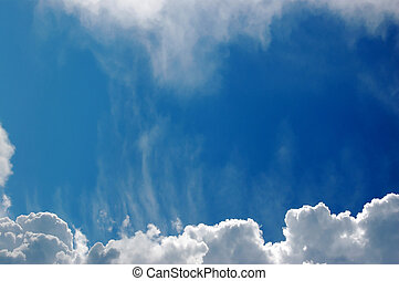 Sky and clouds - Blue sky background
