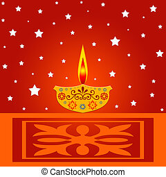 Indian festival - Indian diwali festival illustration
