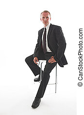 Casual businessman - Man in his thirties wearing a smart...