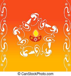 Artistic pattern - Indian rangoli design for festivals