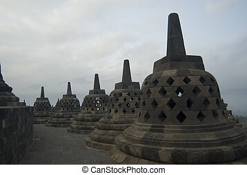 Borobudur - The Borobudur Temple, Java, Indonesia