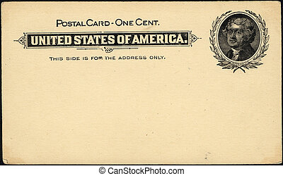 one cent postcard - Vintage 19th century penny postcard has...