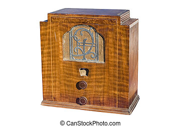 wooden radio - Classic wooden radio from the early 2oth...