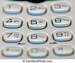Phone Keypad - a macro shot of a touch tone phone keypad