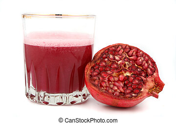 pomegranate juice - fresh half of pomegranate and juice