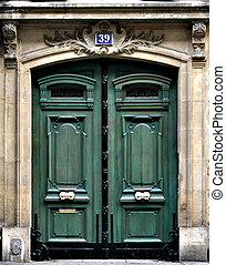 Green Door - Green Paris door