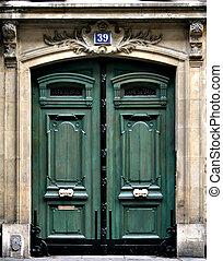 Green Door - Green Paris door