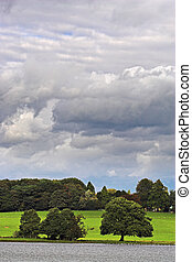 Gathering storm - Storm clouds gathering over the...