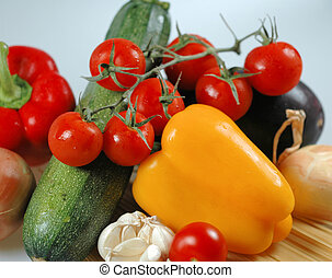 pasta and vegetables - ingredients for pasta
