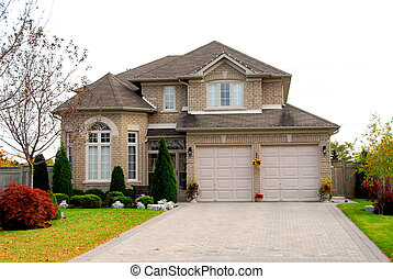 House - New detached single family brick luxury home