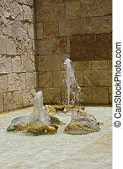 Fountain in the Getty center - California