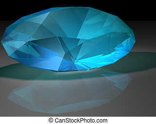 Zircon gemstone - Birthstone for December- Blue Zircon