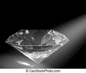 Diamond in white light - A diamond sparkles in a white spot...
