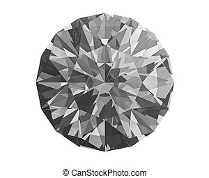 Diamond on white - Diamond isolated on white