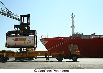 Port activities - Container handling in a modern port