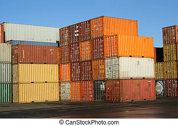 Pile of Containers - Pile of containers waiting to be loaded...