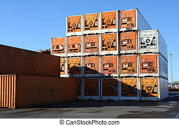 Pile of Containers 2 - pile of refrigerated containers...