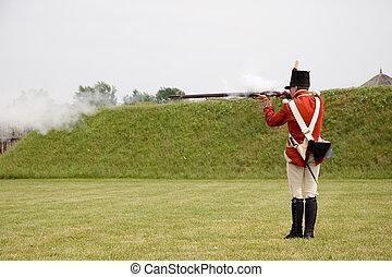Musketeer firing musket