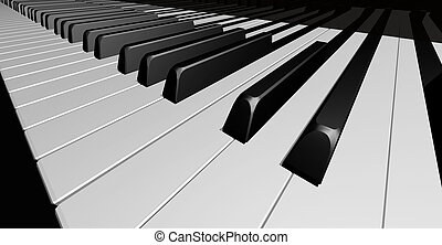 Piano keys - Black and white piano keys