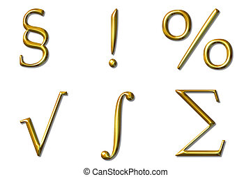 bevel symbols - golden  bevel symbols