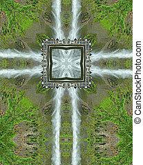 Multnomah Cross - kaleidoscope cross from photo of Multnomah...