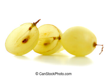 Grapes macro - Extreme macro of fresh cut grape berries with...